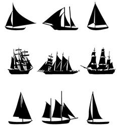 Sailing boats vector