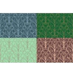 Seamless elven pattern vector