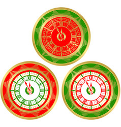 set of round clocks vector image vector image