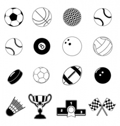 Sport item design elements vector