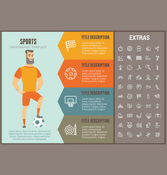 sports infographic template elements and icons vector image