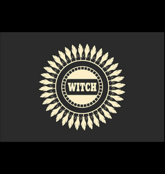 Stamp with witch text vector