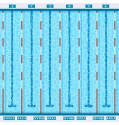 Swimming Pool Top View Flat Pictogram vector image