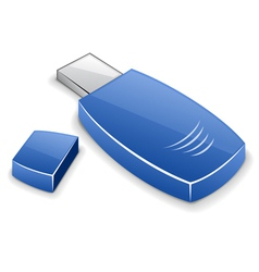 usb memory card vector image