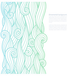 Waves ornate background with copy space vector