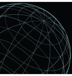 wireframe globe vector image vector image
