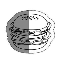 Delicious burger fast food vector