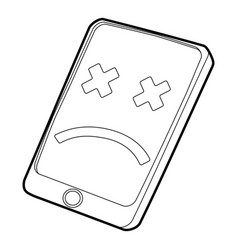 Gadget broken icon outline style vector