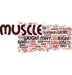 Lose weight gain muscle ins and outs text vector