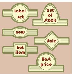 Set of retro decorative labels vector