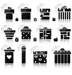 set of gifts and elements vector image