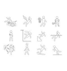 People line icons in a variety of common vector