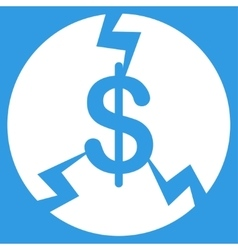 Financial crash icon vector