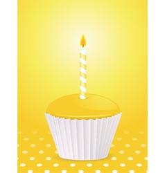 yellow cupcake vector image