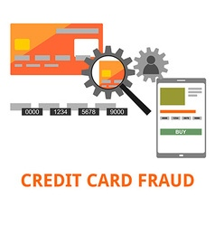 Credit card fraud vector