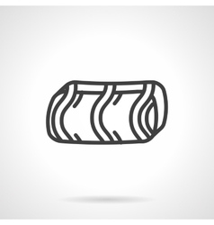 Confectionery simple line icon vector