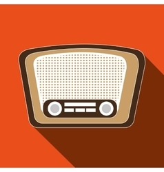 Radio retro design vector