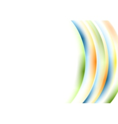 Abstract wavy colorful background vector image vector image