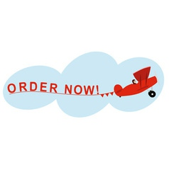 Airplane order now vector