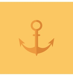 Anchor transportation flat icon vector