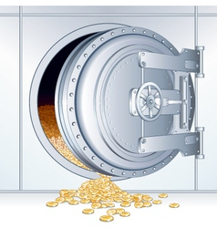 bank vault vector image