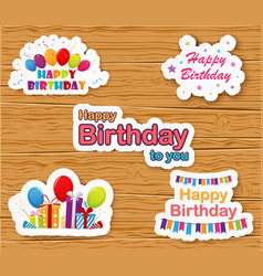 Birthday card on white paper vector image