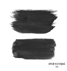 black watercolor banner vector image