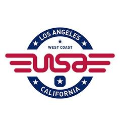California t-shirt design vector image vector image