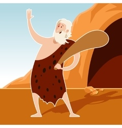 Caveman and a cove vector image
