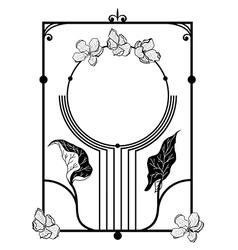 floral apple frame vector image vector image