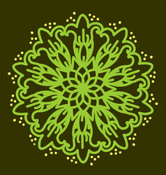 Green mandala vector
