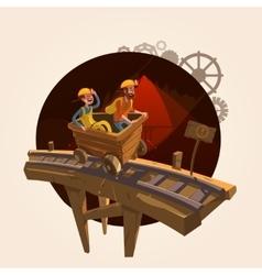 Mining cartoon concept vector
