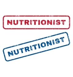 Nutritionist rubber stamps vector