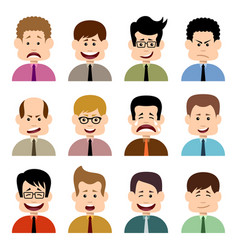 people in emotions vector image vector image
