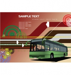 public transport background vector image vector image