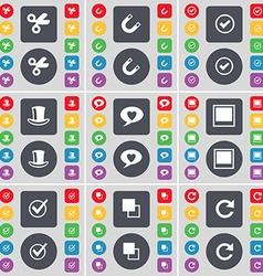 Scissors Magnet Tick Silk hat Chat bubble Window vector image vector image