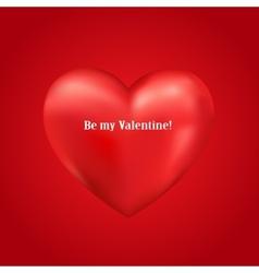 Shiny 3d heart vector image vector image