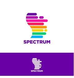 spectrum logo color letter s logo vector image