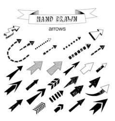 Unique collection of hand drawn arrows vector image