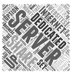 When to choose a dedicated server word cloud vector