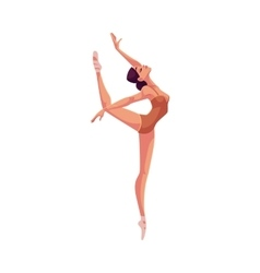 Young beautiful dancer in tights and ballet shoes vector