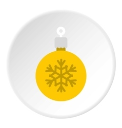 Christmas ball icon flat style vector