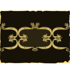 Design frame swirling elements vector image
