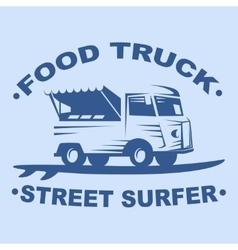 Food truck logo vector