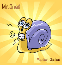 Mr snail with discontent vector
