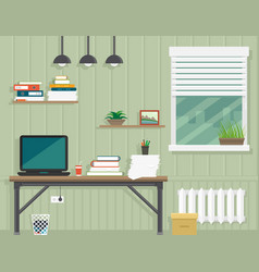Work room interior vector