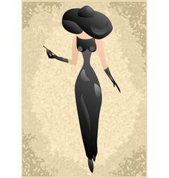 Vintage woman vector