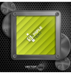 Metallic Frame With Screws vector image