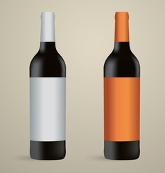Wine bottles packaging vector