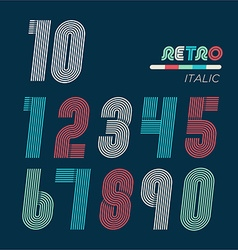 Retro fun numbers vector